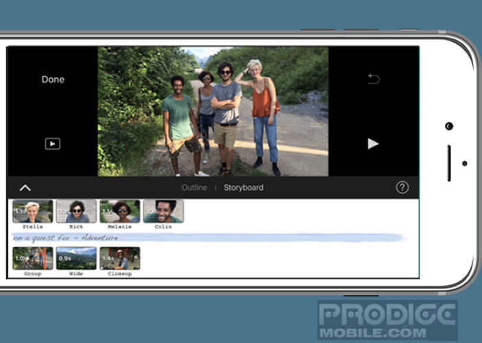 Application iMovie développée pour iOs iPhone et iPad