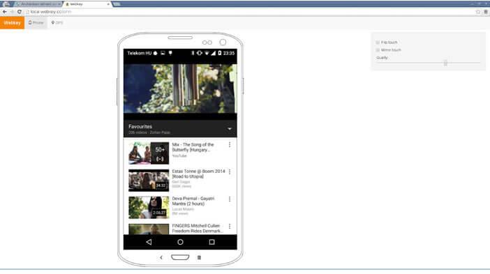 Accéder à distance à votre téléphone via l'interface web de Webkey