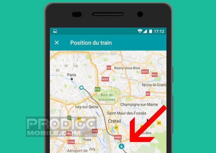 Localiser un train ou une rame de TGV sur votre téléphone