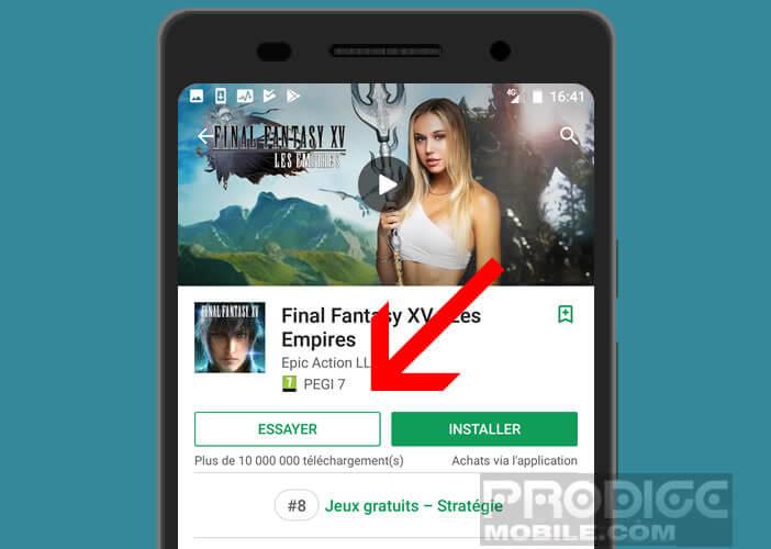 Tester des jeux depuis le Play Store