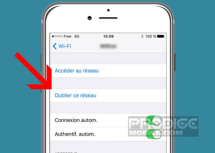 Supprimer un réseau Wi-Fi resté enregistré dans un smartphone Apple