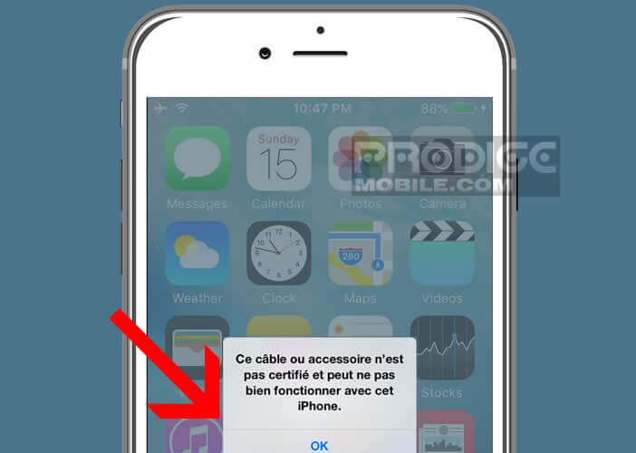 Guide pour utiliser un accessoire non reconnu par l'iPhone