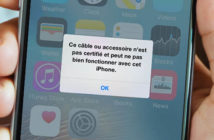 Résoudre le problème de câble non certifié sur un iPhone
