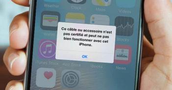 Solution pour recharger un iPhone avec un câble non certifié Apple