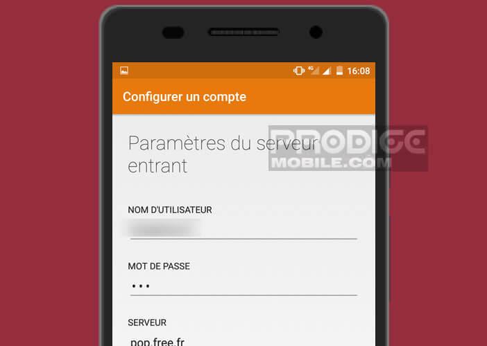 Modifier les paramètres du serveur de messagerie du FAI Free