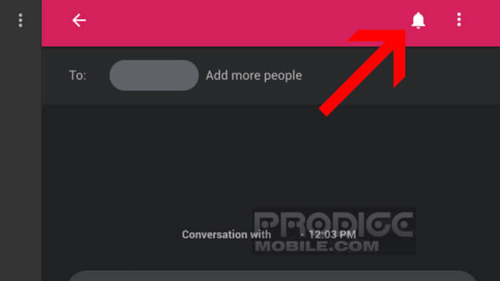 Bloquer les notifications sur la version web de l'application Messages