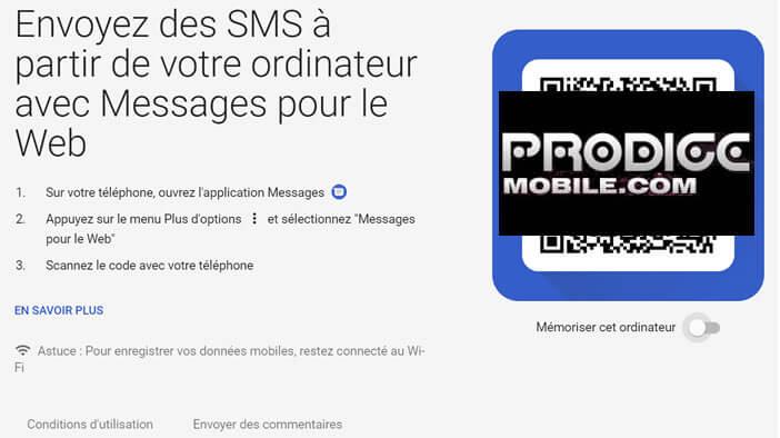 Connecter votre smartphone à votre smartphone depuis l'appli Android Messages