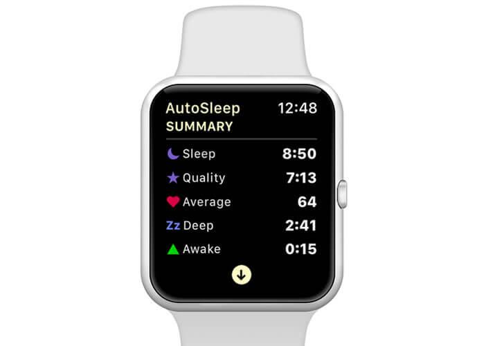 AutoSleep application pour mesurer la qualité du sommeil