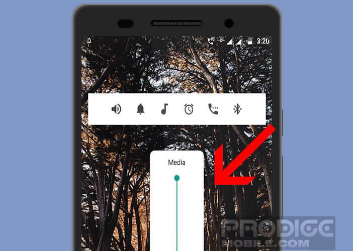 Modifier l'interface de réglage de volume de votre smartphone