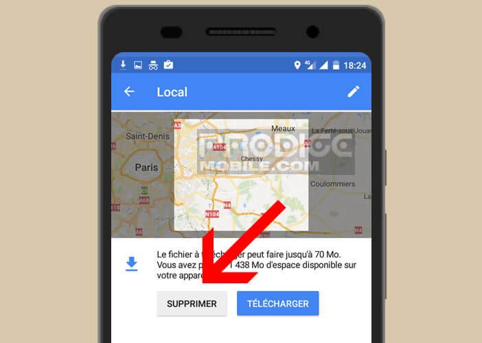 Vider la mémoire de Google Maps