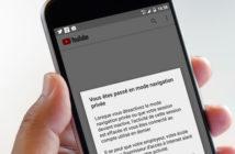 Comment activer le mode incognito de YouTube