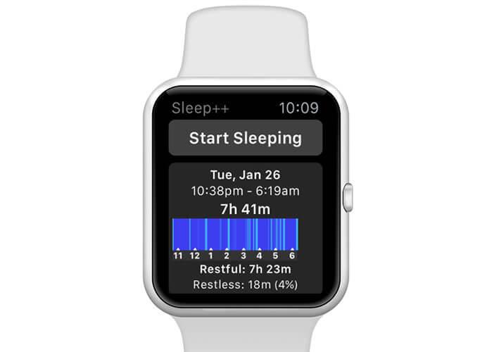 L'appliction Sleep ++ effectue un suivi de vos nuits et de votre sommeil