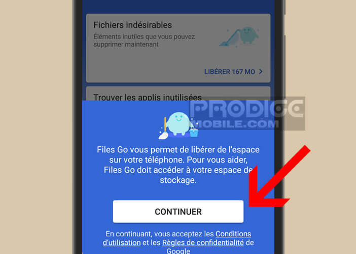 Files Go est un utilitaire de gestion de stockage pour smartphone