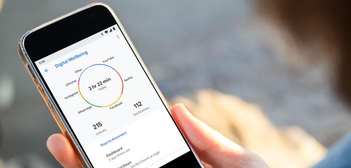 Digital Wellbeing l'appli Android qui mesure le temps passé sur son smartphone