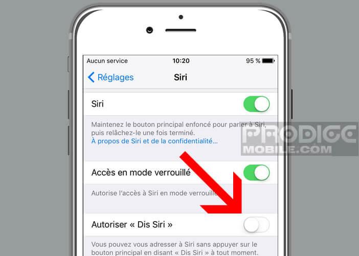 Lancer Siri sans appuyer sur le bouton Home