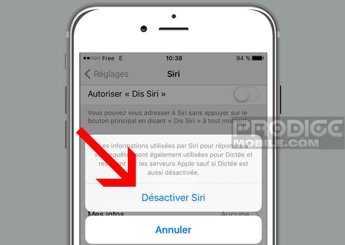 Effacer les enregistrements vocaux de vos demandes des serveurs d'Apple