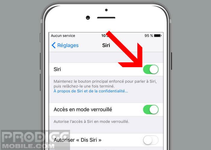 Empêcher Siri de fonctionner sur votre smartphone