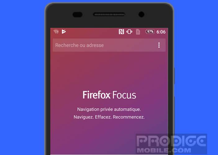 Améliorer la vitesse de votre connexion internet avec Firefox Focus