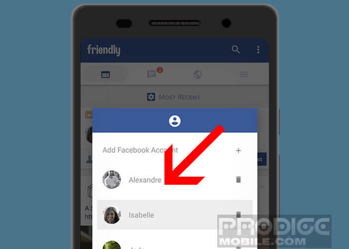 L'application Friendly combine les fonctions de Facebook et de Messenger