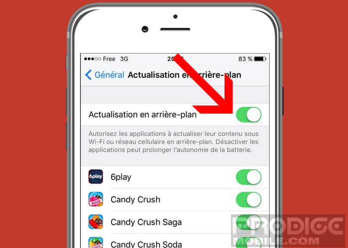 Bloquer l'actualisation automatique des applications sur iOs