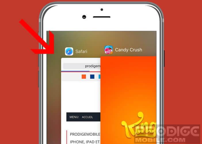 Fermer les applications ouvertes depuis le module multitâche de l'iPad