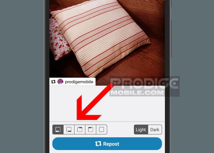 Modifier le positionnement du crédit photo