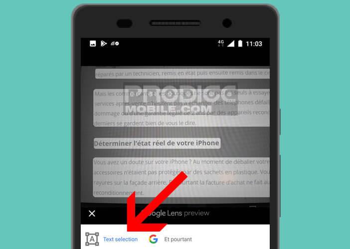 Sélectionner, copier et coller un texte contenu dans une image