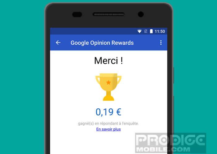 Gagnez plus de crédits à dépenser sur le Play Store de Google