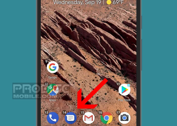 Lancer l'application Android Messages à la voix sans toucher l'écran