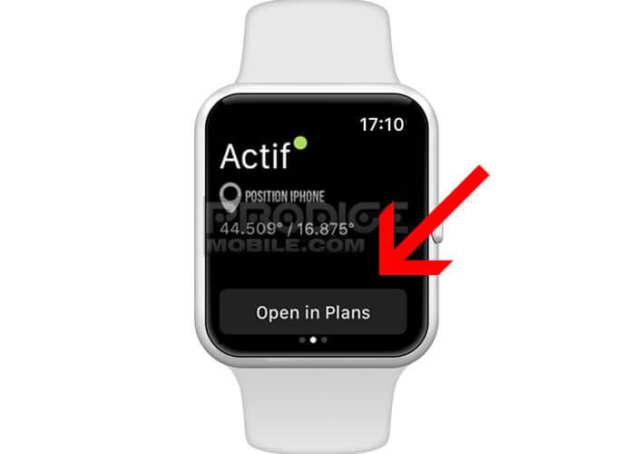 Localiser un iPhone perdu ou volé sur la montre connectée Apple Watch