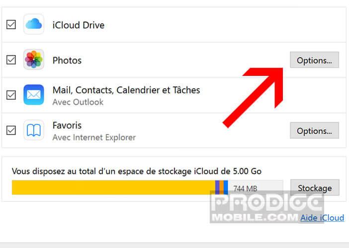 Configurer le logiciel iCloud pour les ordinateurs Windows