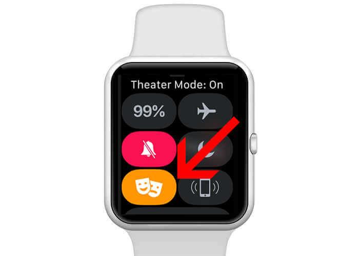 Activer le mode cinéma sur la montre connectée d'Apple