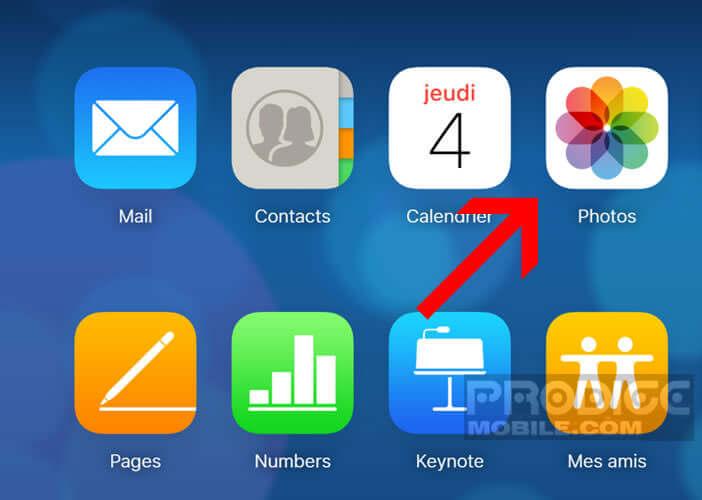 Accéder aux photos stockées sur les serveurs Apple depuis votre navigateur Web