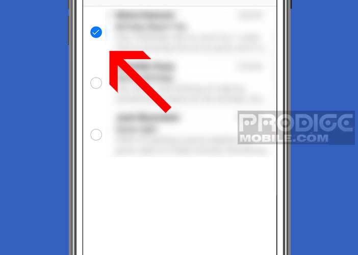 Sélectionner automatiquement tous les mails d'un dossier de l'appli Mail