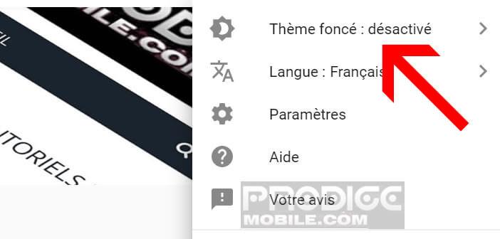Lancer l'option thème foncé de YouTube sur Google Chrome