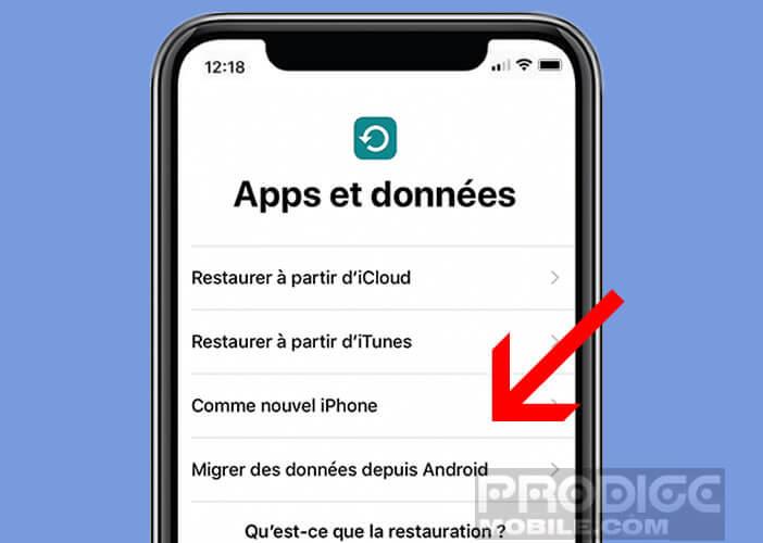 Application code pour message iphone