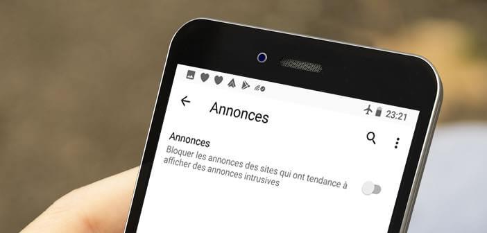 Activer le bloqueur de publicités intrusives de Google Chrome