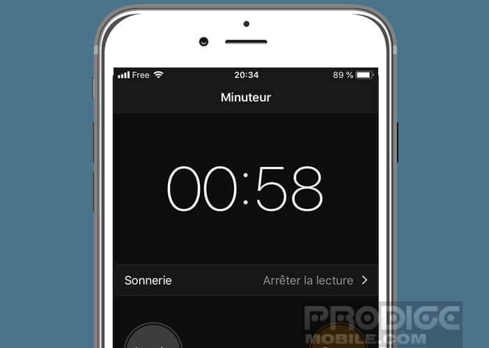 Utiliser l'application Horloge pour éteindre l'écran de l'iPhone à une heure précise