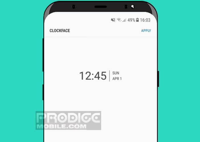 Module Clockface pour personnaliser l'horloge de mobile Samsung