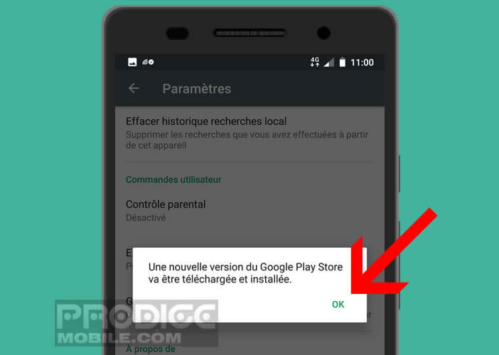 Installer automatiquement la dernière version du Play Store