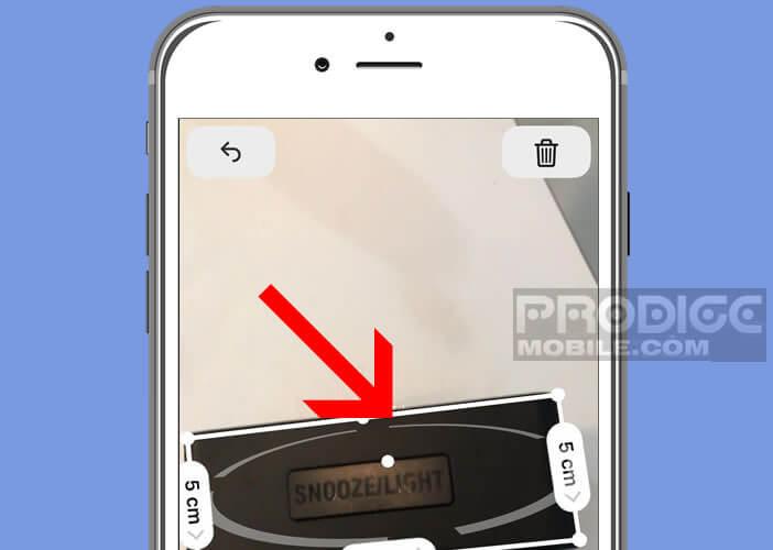 Mesurer la dimension d'un objet avec l'iPhone