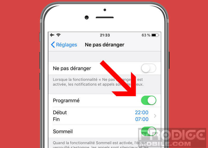 Programmer le lancement du widget sur l'écran d'accueil du mobile