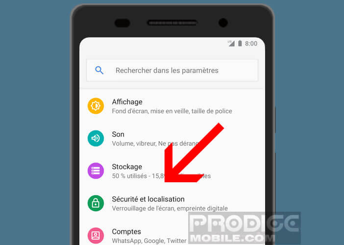 Configuration du dispositif de localisation de smartphone perdu