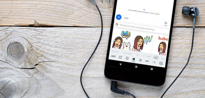 Intégrer les autocollants Bitmoji au clavier Gboard d'Android