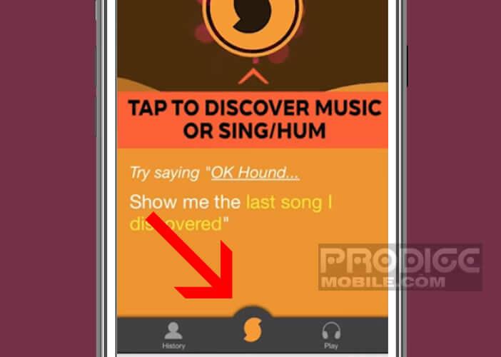 Identifier le nom d'une musique avec l'application SoundHound