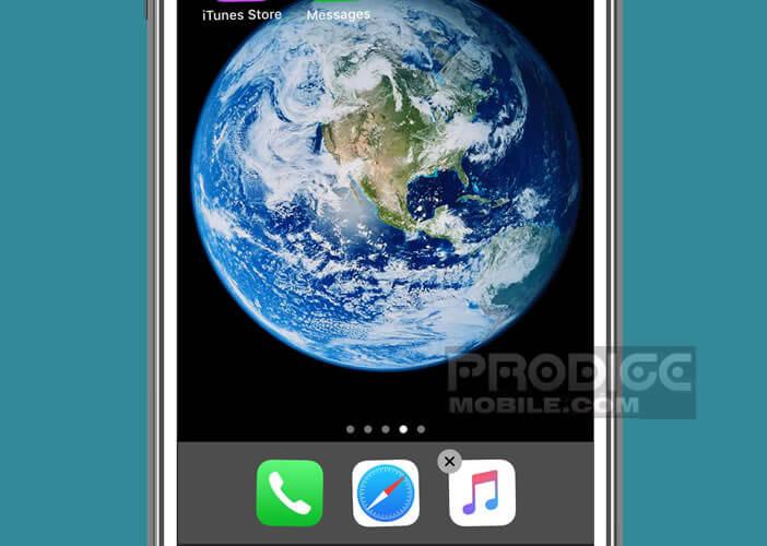 Déplacer une icône du dock vers l'écran d'accueil de l'iPhone