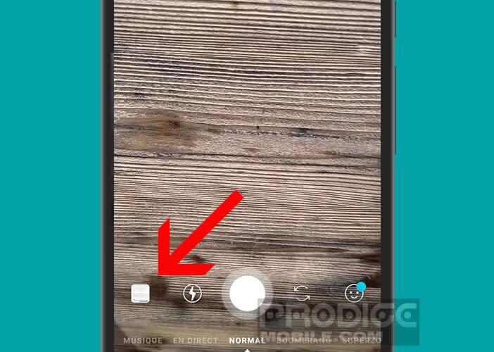 Ajouter une photo de la galerie de votre mobile dans votre carrousel