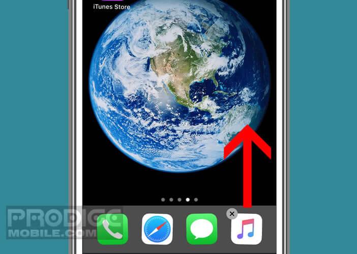Retirer une icône de raccourci du lanceur d'applis