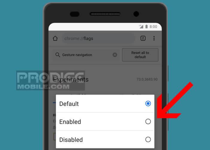 Activer la navigation par gestes depuis les paramètres d'Android