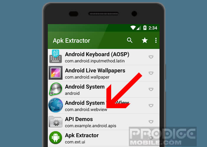 Application d'extraction APK Extractor